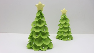 How To Make Beautiful 3D Table Top Paper Christmas Tree DIY Paper Xmas Tree - Christmas Crafts 2018