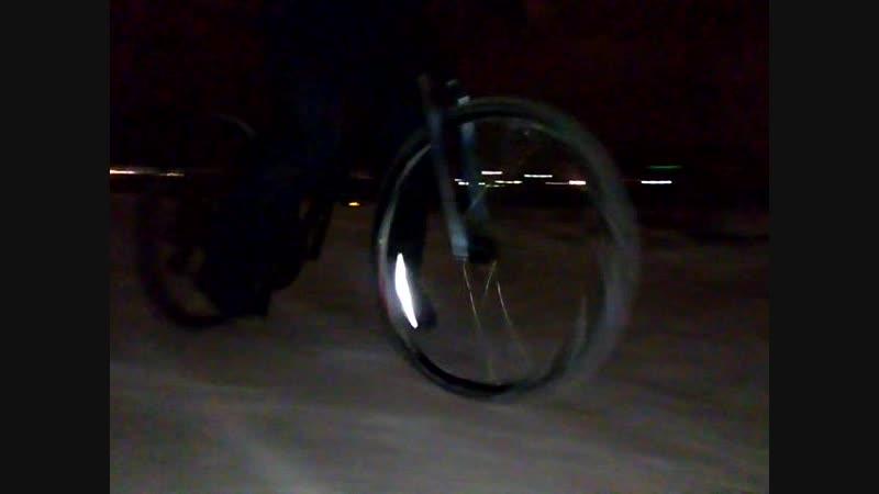 Управляемый вело занос.