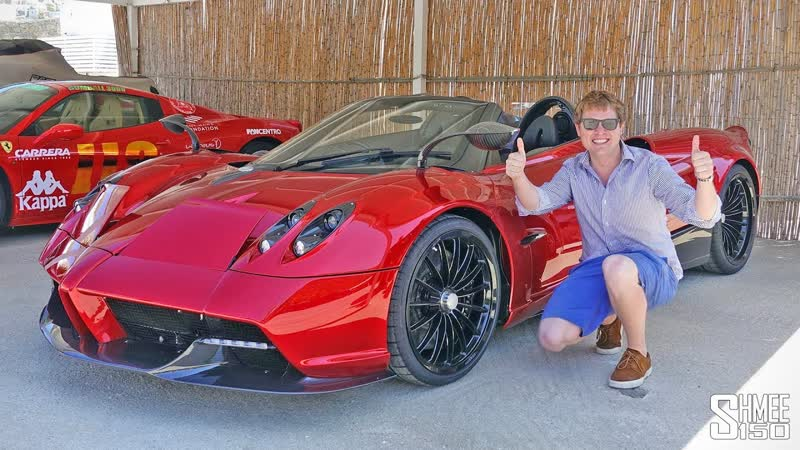 Brand New PAGANI HUAYRA ROADSTER Delivery at Gumball 3000!