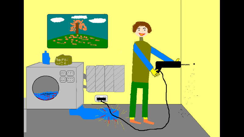 Малиновский Евгений, 11 лет. Работа Правила работы с электроприборами дома