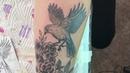 Tattoo Graphic | Whip Shading | Bird Roses - Тату в графике | Випшейдинг | Птица Розы