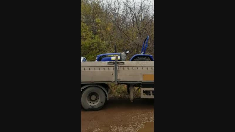 отгрузка мини-трактора Lovol Foton 244 и пресс-подборщика пр-60