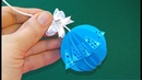 Easy room decoration from paper. 2 minutes Christmas ornaments.