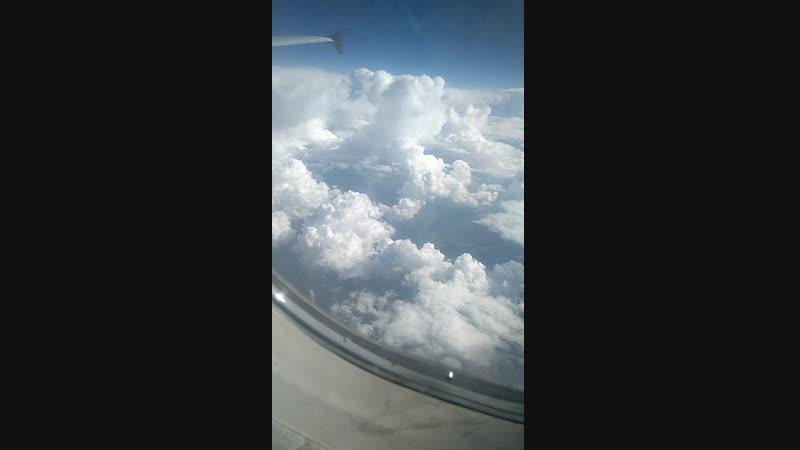 красивые облака снял с самолёта