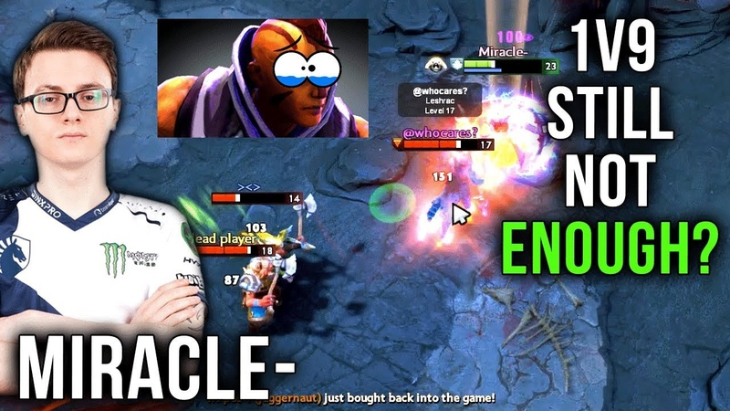 Miracle Anti Mage Trying to Carry Whole Team 1vs9 But Still not Enough Dota 2