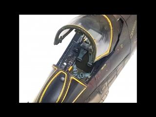 A-7D Corsair II. Модель из бумаги в масштабе 1:33