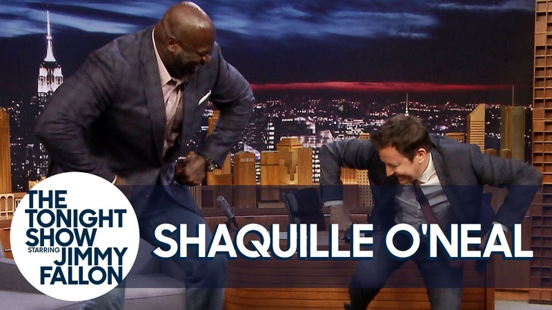 Shaquille ONeal and Jimmy Have a Chicken Dance-Off