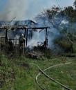 В деревне под Людиновом сгорел жилой дом