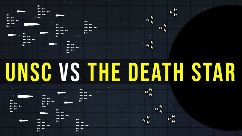 Could the UNSC HOME FLEET destroy the DEATH STAR | Halo vs Star Wars