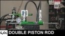 Making double acting cylinder with double piston rod