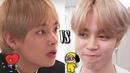 BTS - Jimin Falls VS V Falls (Warning: Too Funny and Cute)