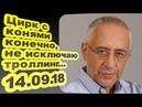 Николай Сванидзе Цирк с конями конечно не исключаю троллинг 14 09 18 Особое мнение