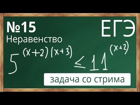📌Неравенство №15 из профильного уровня ЕГЭ по математике Показательное неравенство