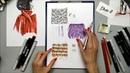 Draw it school уроки фэшн иллюстрации Фактура меховых изделий лама
