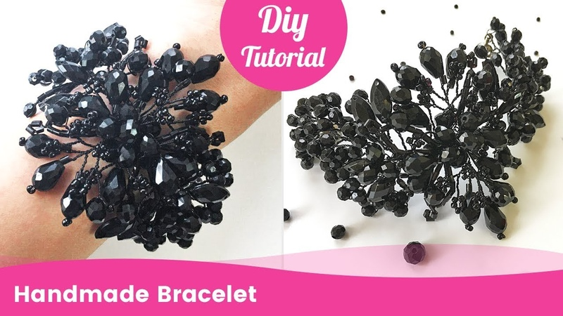 Handmade Bracelet from Beads and Wire. DIY Gift Ideas.