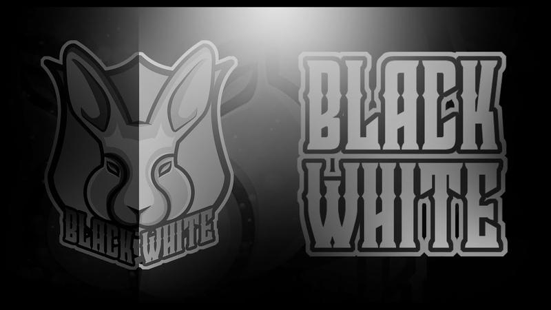 😍SPEED LOGO :(Black White)   рисую лого для :(Black White) в ускорение 😍