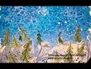 Зимняя сказка (Art of Ebru by Olga Kaurova)
