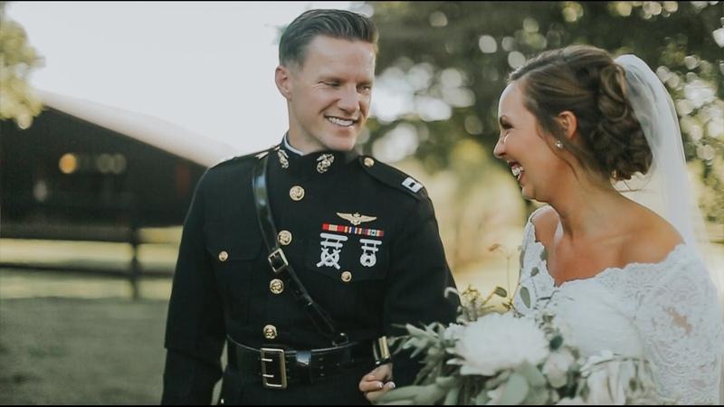 Marine Corps Pilot Cries When He Sees His Bride   Jenn Brian Wedding Video