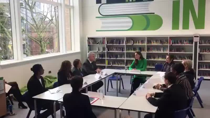 The Duchess of Cambridge joins a roundtable discussion with teachers @AlpertonCS about pup.mp4
