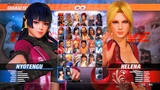 Dead or Alive 6 New Gameplay NYOTENGU vs HELENA - DOA6 1080p HD
