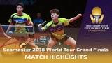 Jang WoojinLim J. vs Wong C.T.Ho Kwan Kit 2018 ITTF World Tour Grand Finals Highlights (Final)