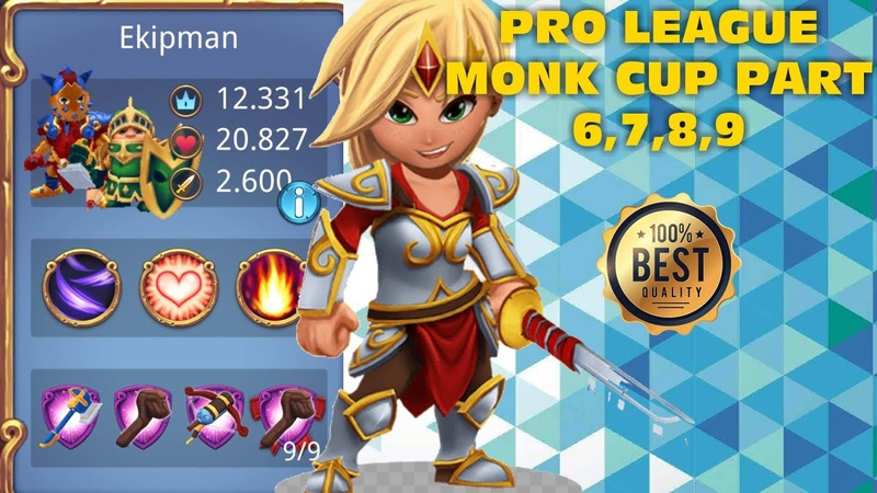 Royal Revolt 2 l Pro League Monk Cup Part 6,7,8,9