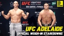 UFC ADELAIDE: Official Staredowns Highlights