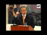 Former president Fujimori speaks in his own defence on last day of corruption trial
