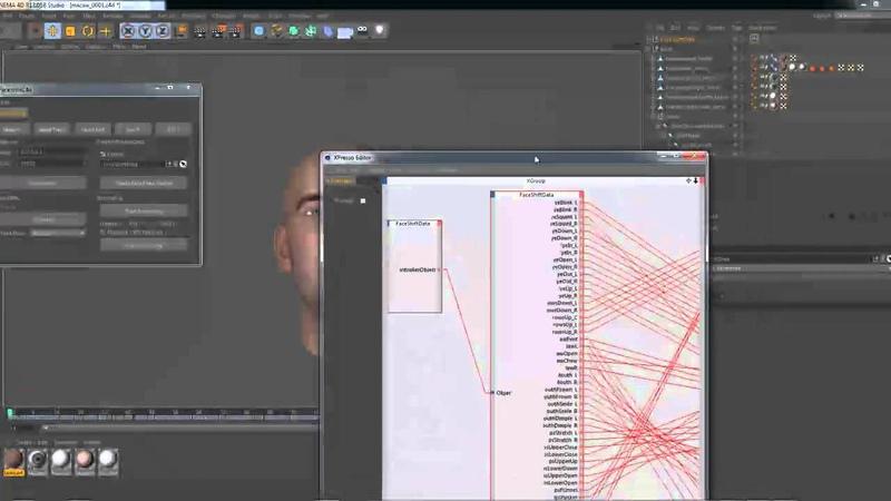 Cinema 4D Faceshift Faceshift plugin (урок 4)