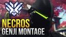 Necros INSANE GENJI GOD MONTAGE Overwatch Montage