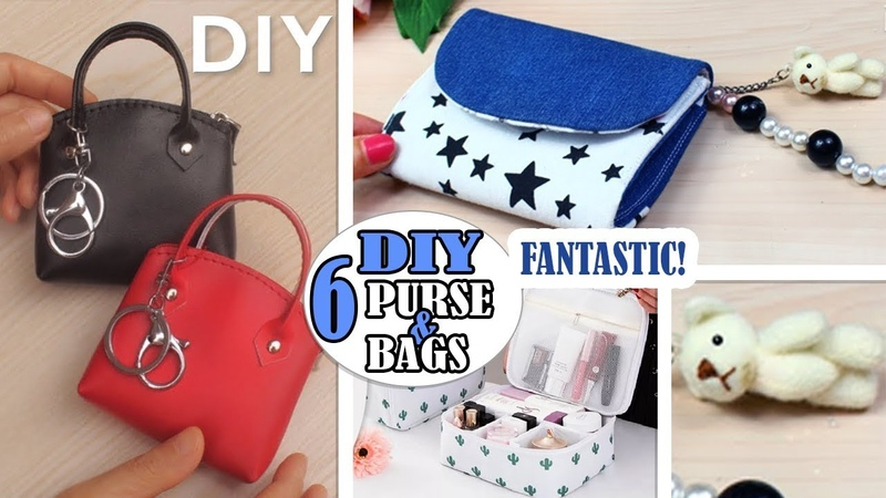 6 CUTE DIY POUCH BAG TUTORIALS Purse Bag You Can Make At Home Easy