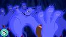 Алладин освобождает Джинна из лампы. Аладдин 1992 год