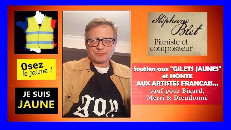 Gilets Jaunes...Pourquoi aucun artiste ne les soutient ? L'avis de Stéphane Blet ...(Hd1080) Remix