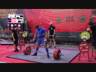 Лукьянов Сергей становая тяга 350 кг