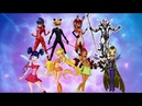 MIRACULOUS VS WINX Switched Transformations