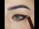 Красивая идея для зелёных глаз 💚