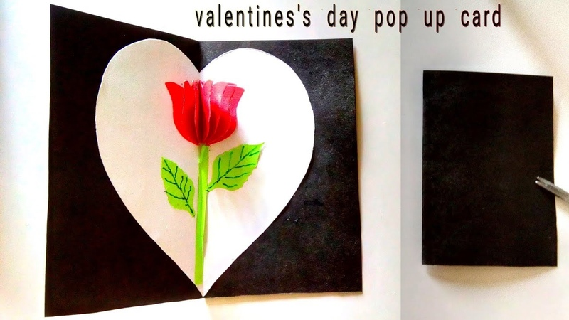 Love propose pop up card    how to make valentine's day propose pop up card