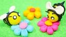 Плей До пчелы. Видео для детей на английском языке.