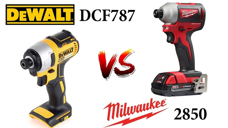Обзор Milwaukee 2850 vs DeWALT DCF787