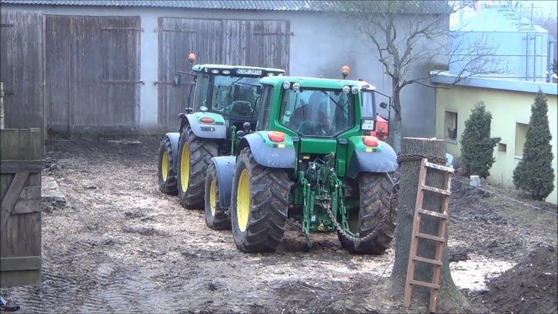 Такого никто не ожидал Трактора вырывают пни и деревья