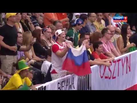 Переломный момент игры в волейбол России Бразилии на Олимпиаде 2012 Безоговорочная ПОБЕДА