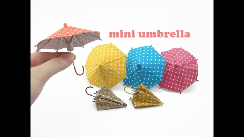 DIY Miniature Doll Mini Umbrella - Can Open Close!