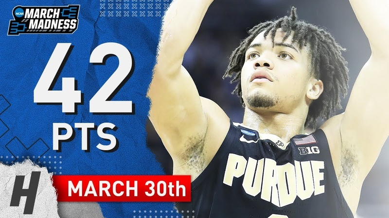 Carsen Edwards Full Highlights Purdue vs Virginia 2019.03.30 - 42 Pts, 10 Threes, SICK!
