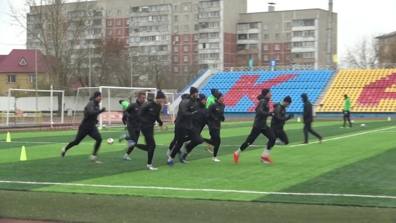 Видео с тренировки основной команды Кызыл-Жар СК