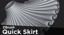 Character Art Tip: Quick and Easy Skirts in ZBrush