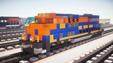 Minecraft NS 1071 Jersey Central Lines SD70ACe Tutorial