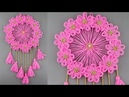 Woolen Craft Idea Best Out of Waste Woolen Door Hanging How To Make Wall Hanging for Room Decor