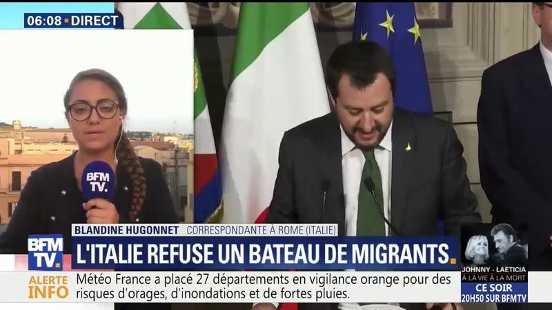 En Italie, Matteo Salvini refuse un bateau humanitaire chargé de migrants