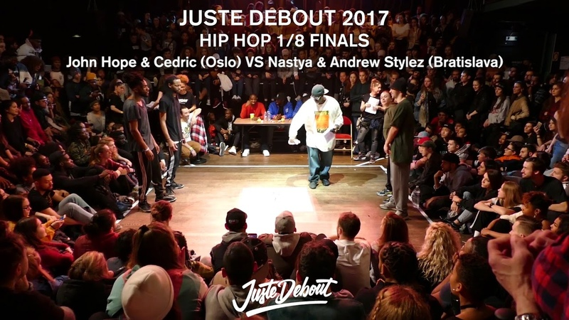 Nastya Andrew Stylez VS John Hope Cedric 1 8 HIP HOP FINALS JUSTE DEBOUT 2017