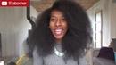 J'étire mes cheveux crépus avec une BROSSE LISSANTE